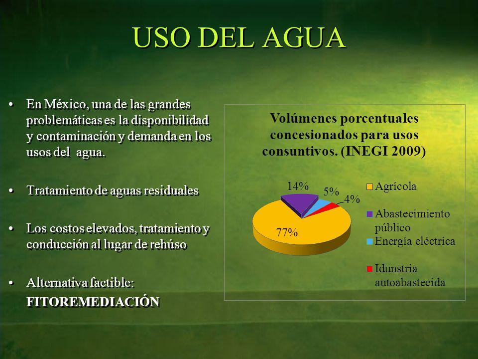 USO DEL AGUA En México, una de las grandes problemáticas es la disponibilidad y contaminación y demanda en los usos del agua.