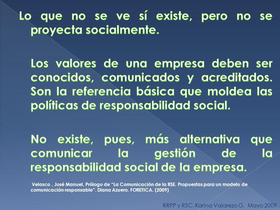 RRPP y RSC. Karina Valarezo G. Mayo 2009