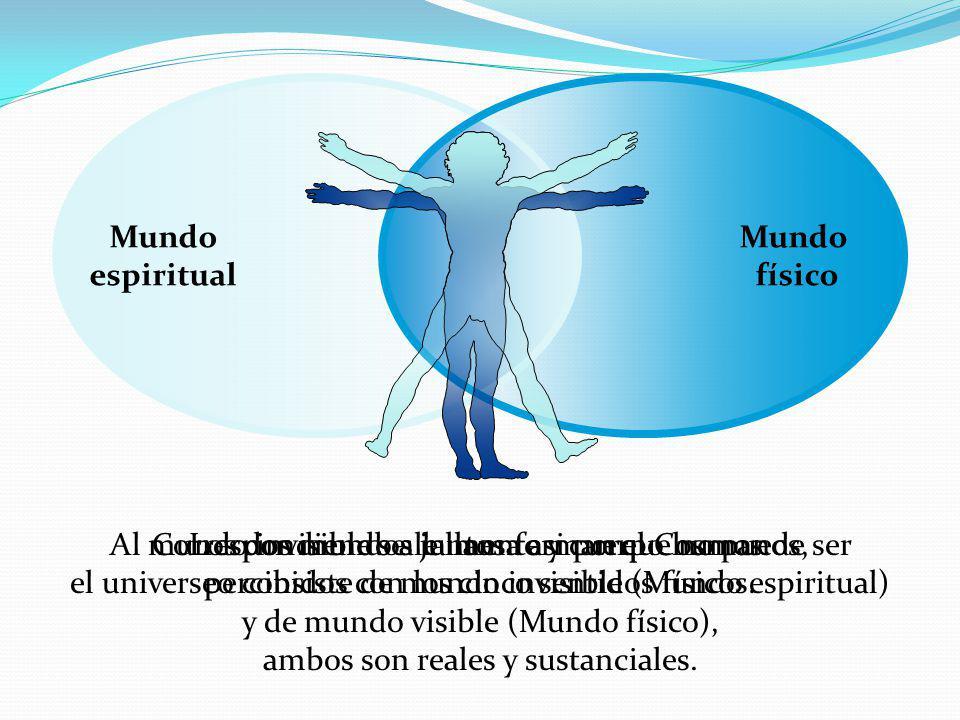 Mundo espiritual Mundo físico El mundo espiritual, esta en una posición subjetiva y el mundo físico en una posición objetiva este último es como una sombra del primero Cuando nos despojamos de nuestros cuerpos físicos, entramos en el mundo espiritual como seres espirituales y vivimos allí por la eternidad