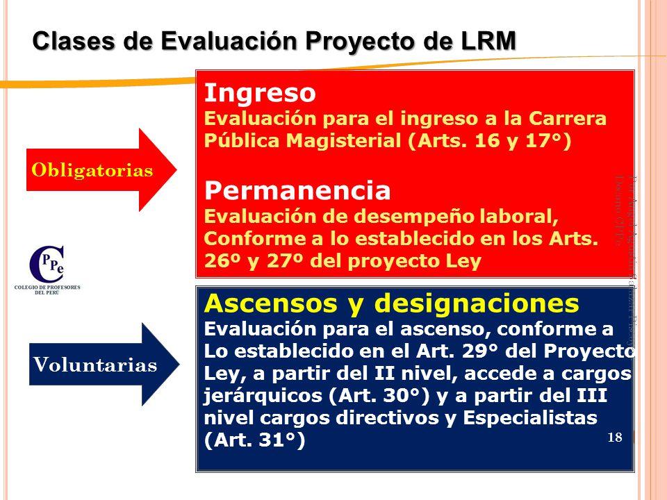 Estructura y Áreas de la LP y CPM Art.