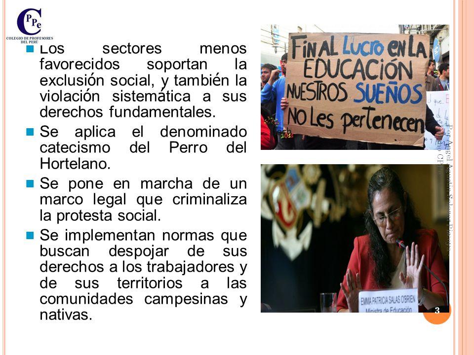 Contexto Nacional Peruano En el Per ú : Se aplica un modelo econ ó mico neoliberal.