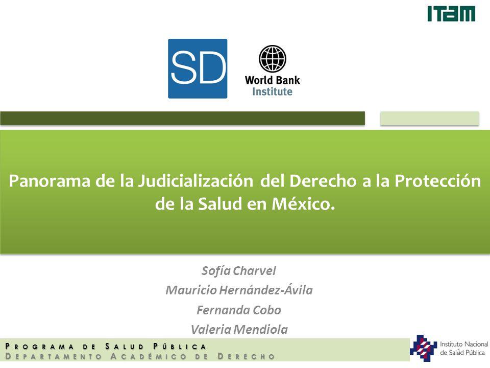 Panorama de la Judicialización del Derecho a la Protección de la Salud en México. Sofía Charvel Mauricio Hernández-Ávila Fernanda Cobo Valeria Mendiol