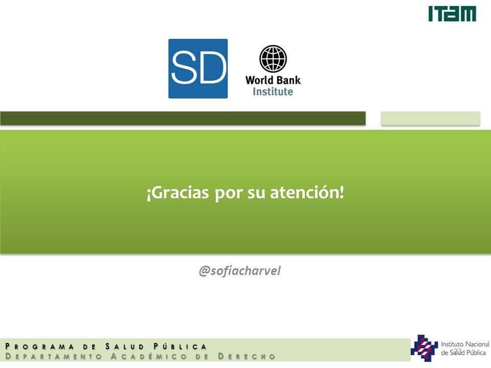 ¡Gracias por su atención! @sofiacharvel P ROGRAMA DE S ALUD P ÚBLICA D EPARTAMENTO A CADÉMICO DE D ERECHO 23