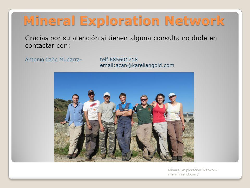 Mineral Exploration Network Mineral exploration Network men-finland.com/ Gracias por su atención si tienen alguna consulta no dude en contactar con: A