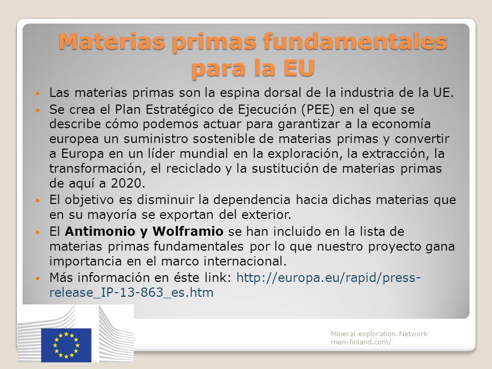 Materias primas fundamentales para la EU Las materias primas son la espina dorsal de la industria de la UE. Se crea el Plan Estratégico de Ejecución (