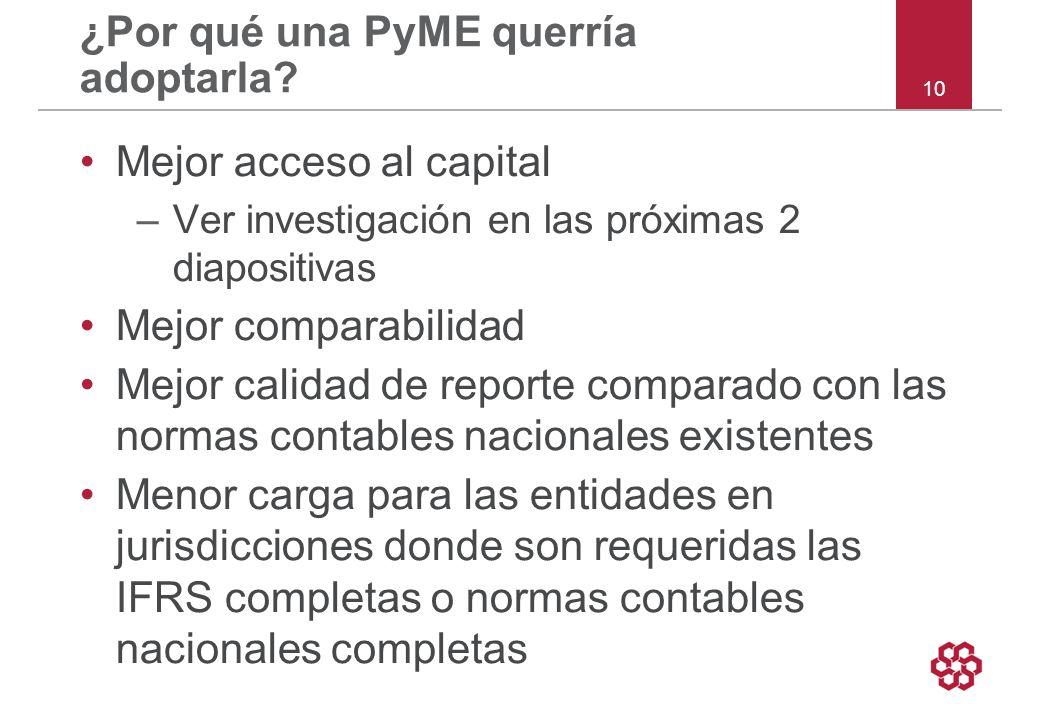 10 ¿Por qué una PyME querría adoptarla.