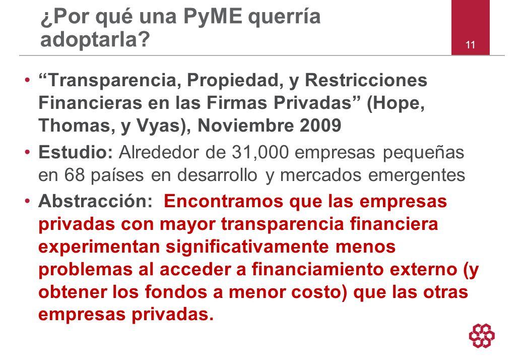 11 ¿Por qué una PyME querría adoptarla.