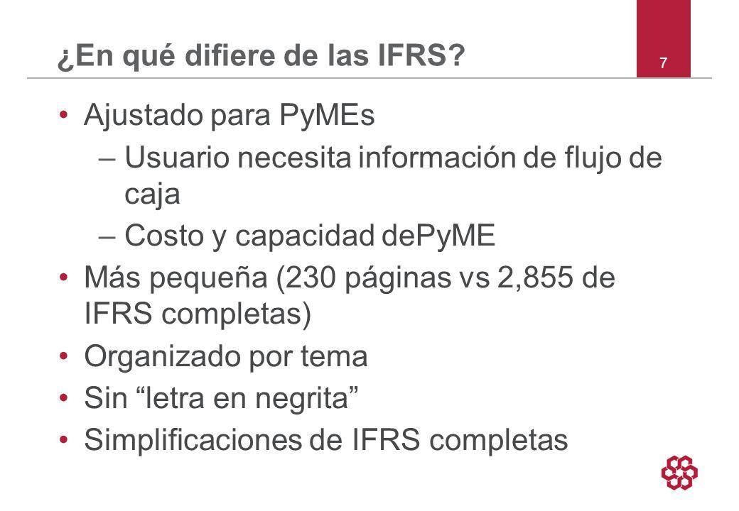 7 ¿En qué difiere de las IFRS.