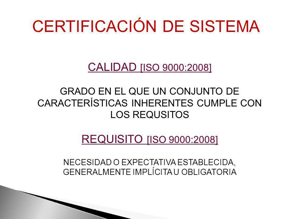 PRODUCTO [ISO 9000:2008] RESULTADO DE UN PROCESO PROCESO [ISO 9000:2008] RESULTADO DE UN CONJUNTO DE ACTIVIDADES MUTUAMENTE RELACIONADAS O QUE INTERAC