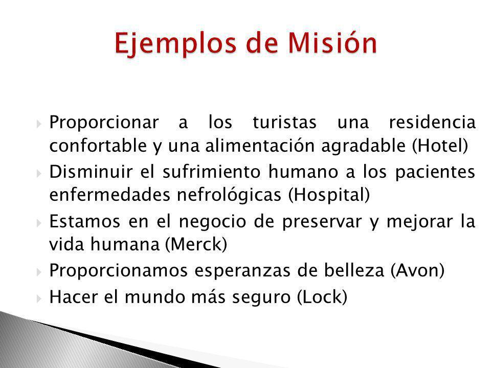Las organizaciones son entidades que tienen un propósito especial. Son eficientes cuando se concentran en una sola tarea fundamental Sólo una misión c
