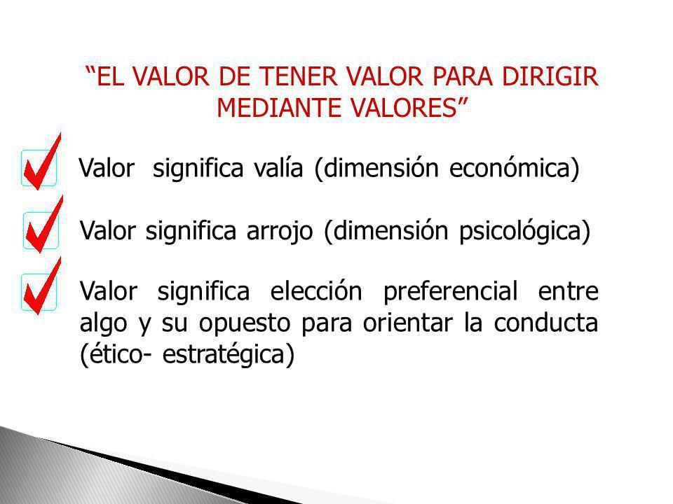 Los valores son guías, principios de acción adecuados, para conseguir lo que nos proponemos. Orientan las conductas ante el trabajo, las relaciones en