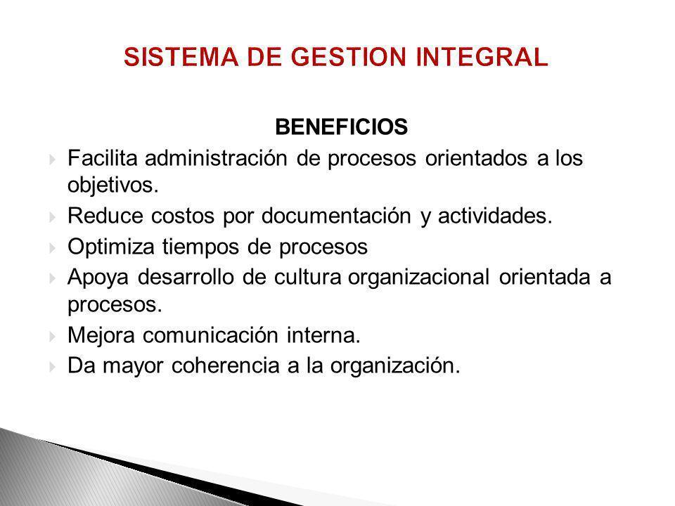 CARACTERISTICAS 1. Directrices estratégicas unificadas. 2. Lideres de procesos conscientes y empoderados. 3. Personal consciente y con conocimientos d