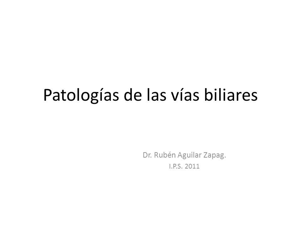 Patologías de las vías biliares Dr. Rubén Aguilar Zapag. I.P.S. 2011