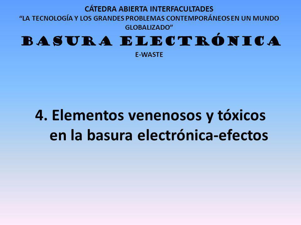 4. Elementos venenosos y tóxicos en la basura electrónica-efectos
