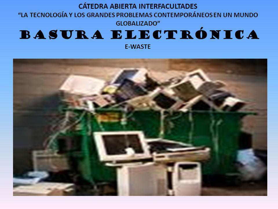 LA DIMENSION DEL PROBLEMA El 80% de la basura electrónica se vierte en China e India.
