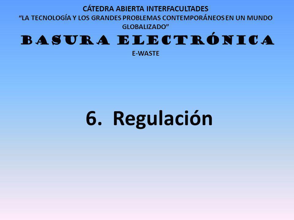 6. Regulación