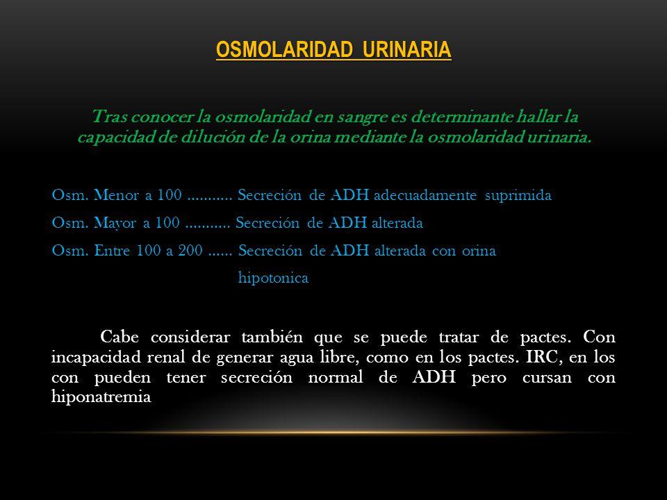 DIAGNÓSTICOS DIFERENCIALES Insuficiencia Suprarrenal: Una alcalosis metabólica, asociada a hipopotasemia sugiere presencia de vómitos, sin embargo, la hiperpotasemia con acidosis metabólica en ausencia de insuficiencia renal, sugiere insuficiencia suprarrenal (hipoaldosteronismo primaro).
