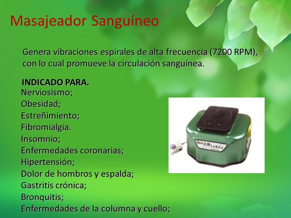 Tensiómetro Estabiliza la presión sanguínea. Estimula la vasodilatación, mejora la micro circulación y disminuye la secreción renal. Perfecta combinac