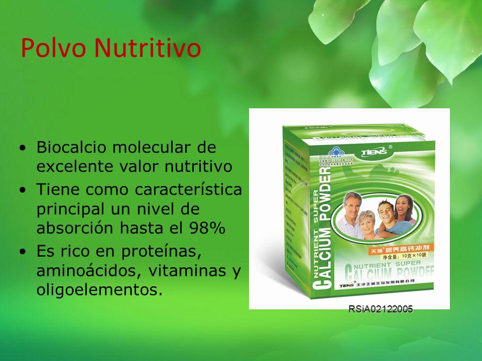 Calcio El nuevo calcio molecular de TIENS, es rico en aminoácidos, vitaminas y minerales. Es extraído de la columna vertebral de Bovinos criados ecoló