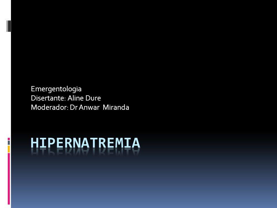 Se considera hipernatremia cuando la concentración de sodio en sangre supera el valor de 145 mEq/l.