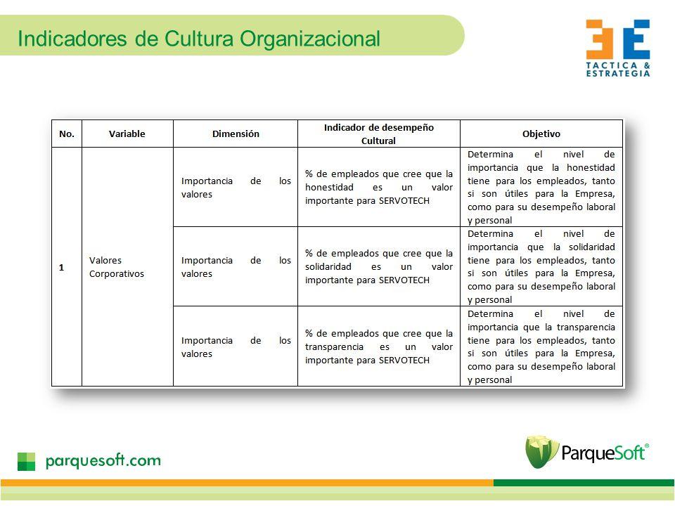 Indicadores de Cultura Organizacional