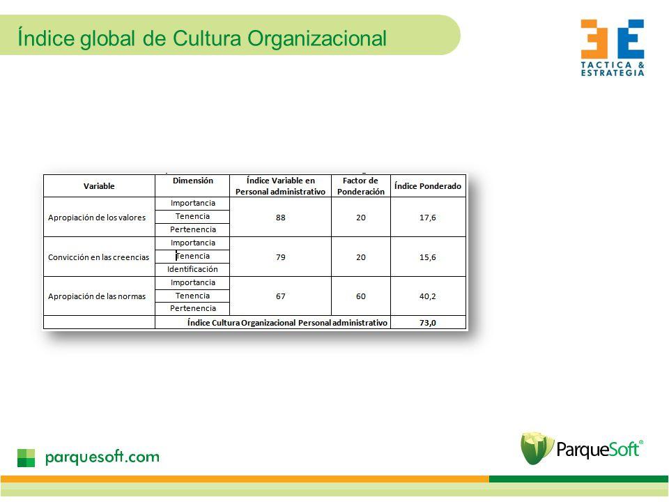 Índice global de Cultura Organizacional