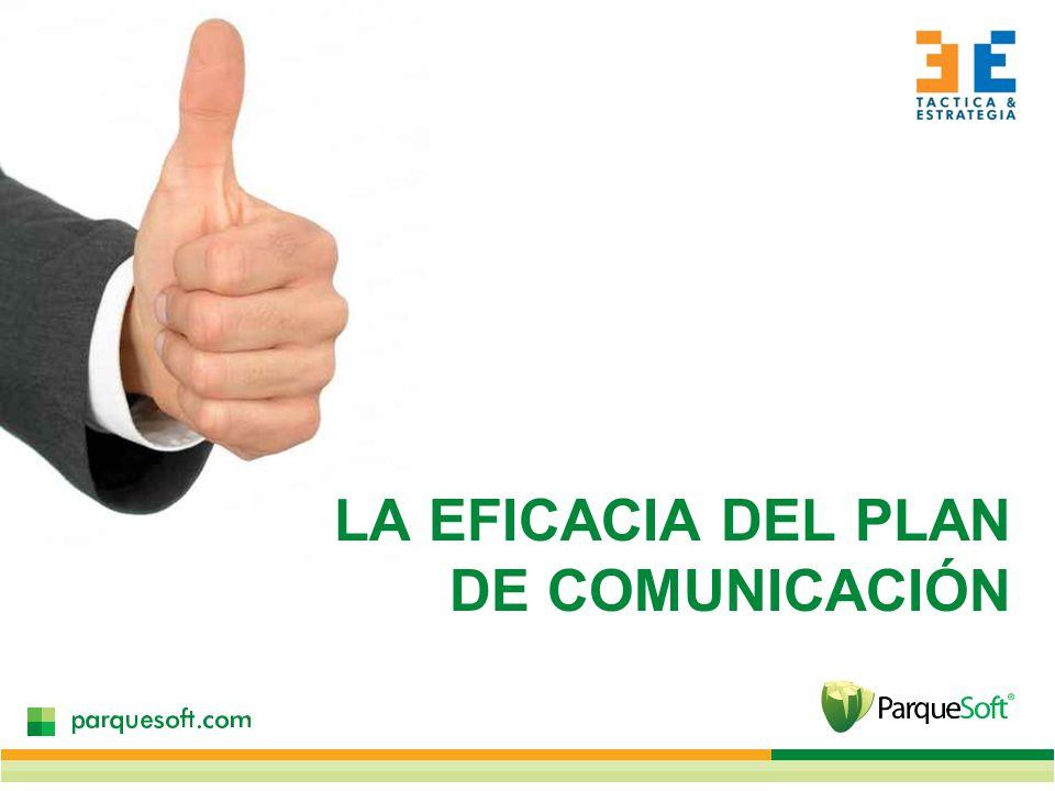 LA EFICACIA DEL PLAN DE COMUNICACIÓN