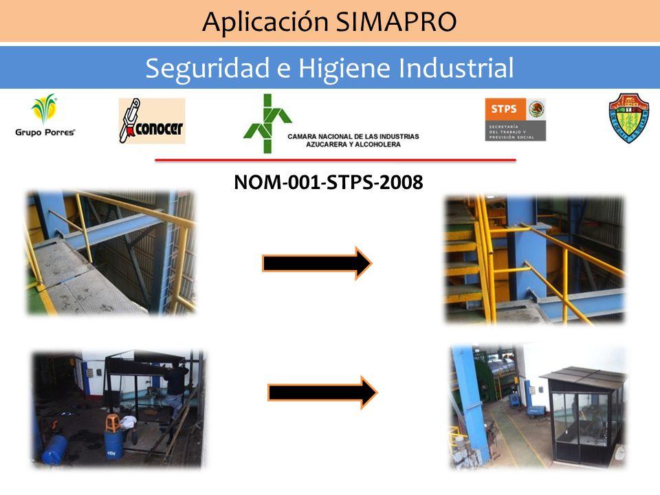 Aplicación SIMAPRO Seguridad e Higiene Industrial NOM-026-STPS-2008