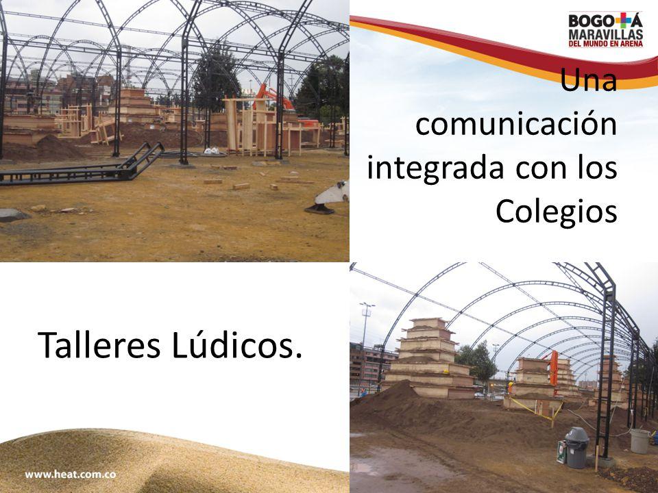 www;maravillasenarena.com Una comunicación integrada con los Colegios Talleres Lúdicos.