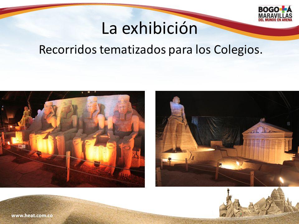 www;maravillasenarena.com La exhibición Recorridos tematizados para los Colegios.