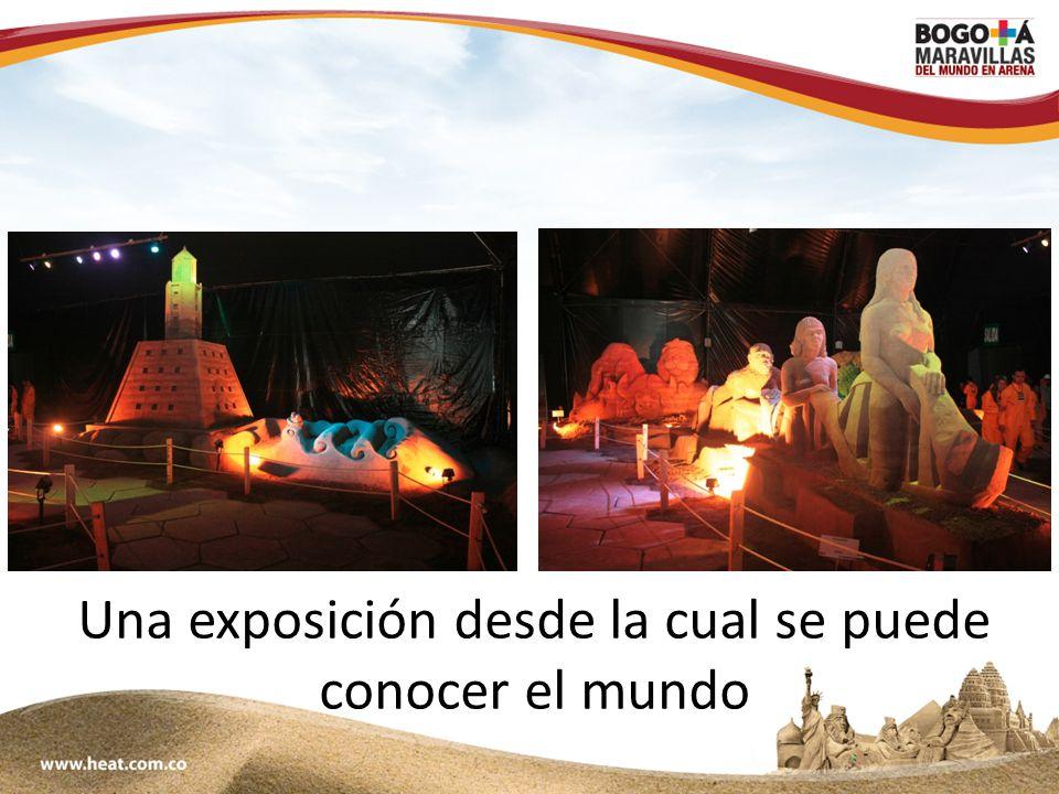 www;maravillasenarena.com Una exposición desde la cual se puede conocer el mundo