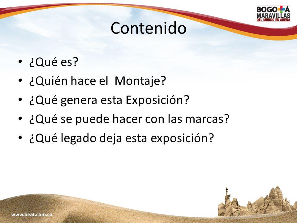 www;maravillasenarena.com Contenido ¿Qué es. ¿Quién hace el Montaje.