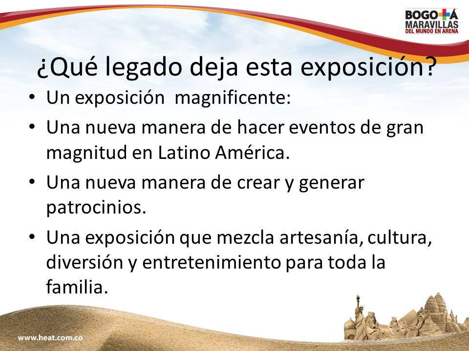 www;maravillasenarena.com ¿Qué legado deja esta exposición.