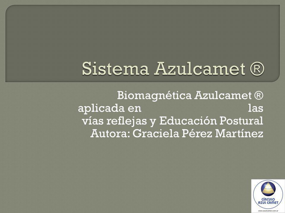 Biomagnética Azulcamet ® aplicada en las vías reflejas y Educación Postural Autora: Graciela Pérez Martínez