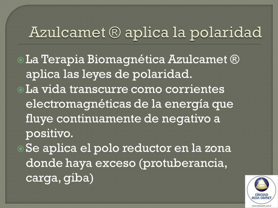 La Terapia Biomagnética Azulcamet ® aplica las leyes de polaridad. La vida transcurre como corrientes electromagnéticas de la energía que fluye contin