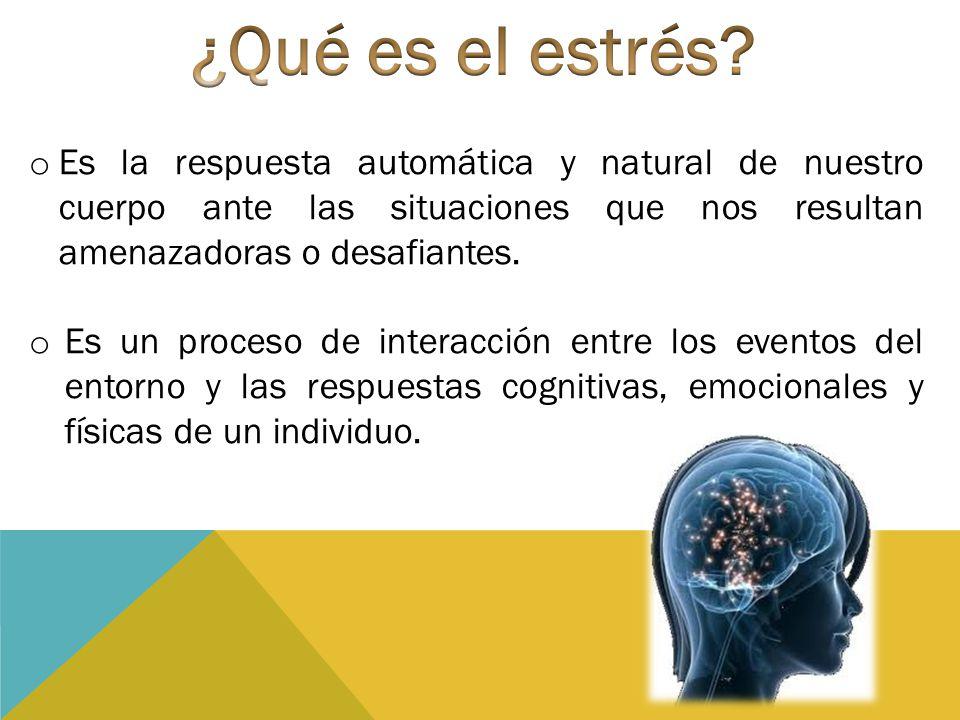 Es la respuesta inicial que se pone en marcha ante una situación de amenaza Predominan los mediadores de la respuesta nerviosa capaces de superar el inconveniente que se enfrenta Aumenta la secreción de hormonas y existe un aumento en la respiración.