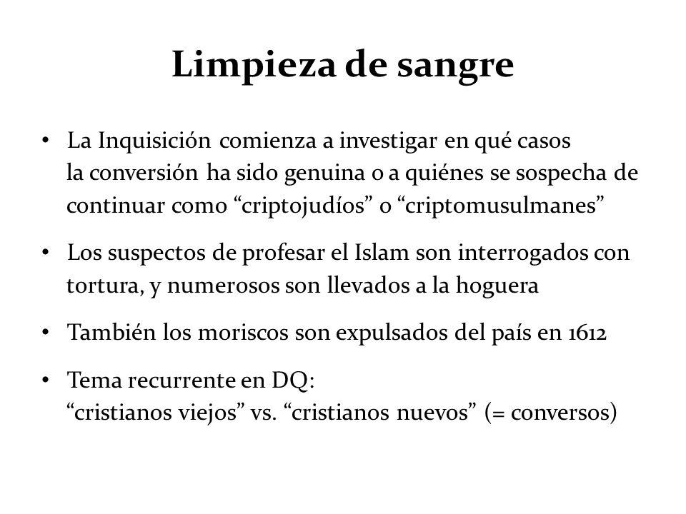 Limpieza de sangre La Inquisición comienza a investigar en qué casos la conversión ha sido genuina o a quiénes se sospecha de continuar como criptojud
