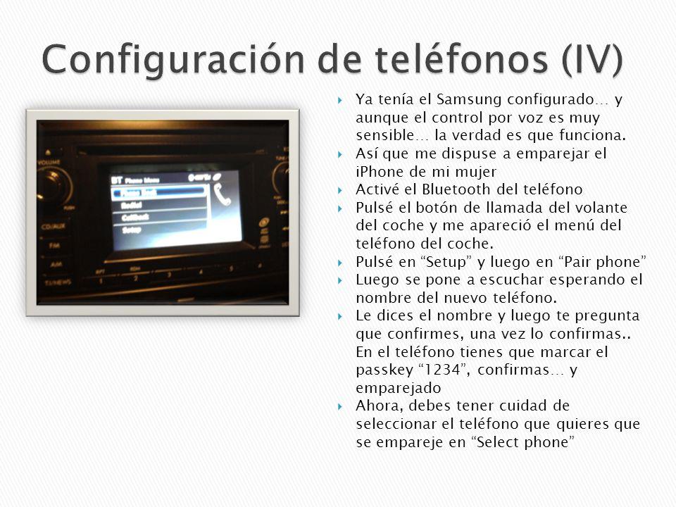 Ya tenía el Samsung configurado… y aunque el control por voz es muy sensible… la verdad es que funciona.