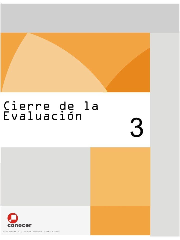 Cierre de la Evaluación 3