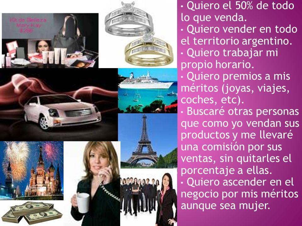 Quiero el 50% de todo lo que venda. Quiero vender en todo el territorio argentino.