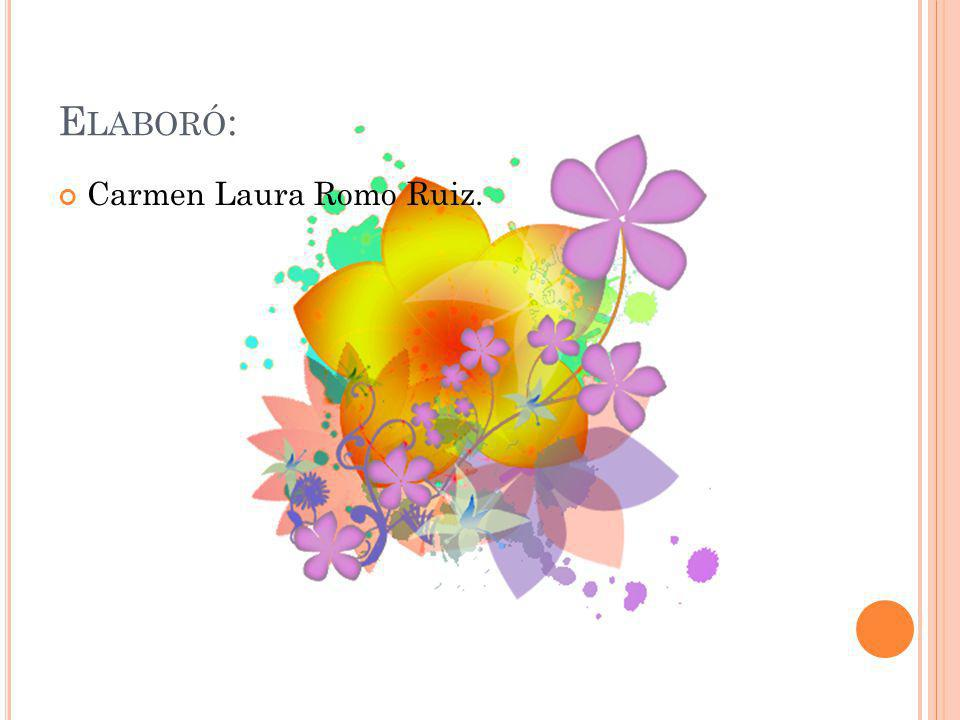 E LABORÓ : Carmen Laura Romo Ruiz.