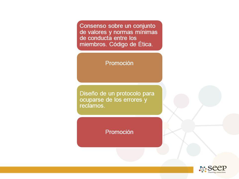Consenso sobre un conjunto de valores y normas mínimas de conducta entre los miembros.