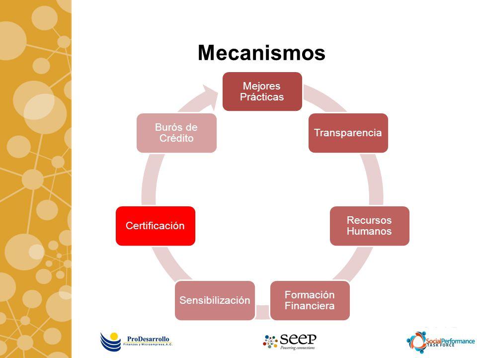 Mecanismos Mejores Prácticas Transparencia Recursos Humanos Formación Financiera SensibilizaciónCertificación Burós de Crédito