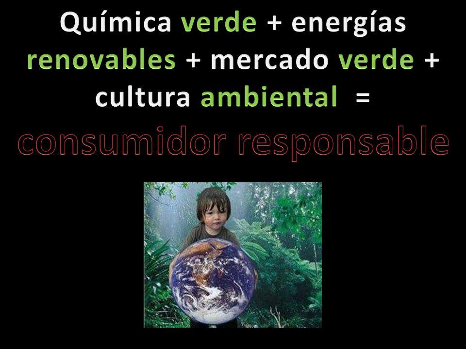 Química Verde Es importante que la sociedad se proponga diseñar productos o procesos pero que sean elaborados con sustancias no peligrosas, que favorezca al medio ambiente y al ser humano como consumidor.