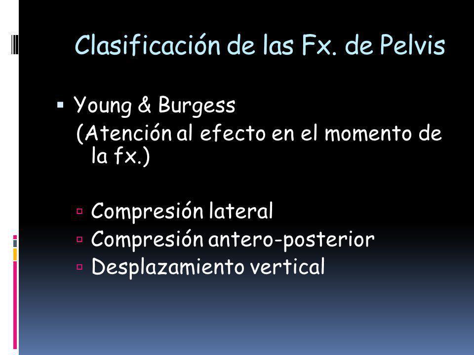 Tile & Pennal, (Atención al componente de rotación y la estabilidad vertical) Tipo A: estable Tipo B: estable vertical, inestable rotacional Tipo C: inestable vertical y rotacional Sociedad Paraguaya de Trauma - Abril 2009