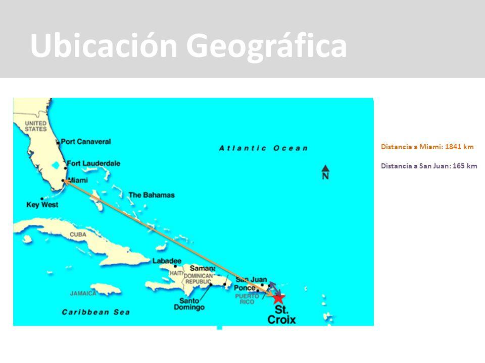 Ubicación Geográfica Distancia a Miami: 1841 km Distancia a San Juan: 165 km