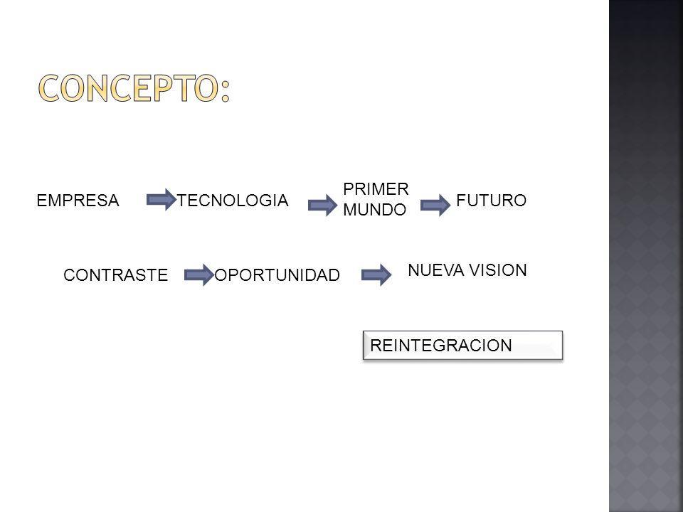 EMPRESATECNOLOGIA PRIMER MUNDO FUTURO CONTRASTEOPORTUNIDAD NUEVA VISION REINTEGRACION