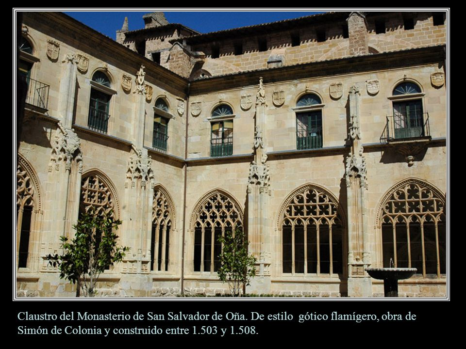 Claustro del Monasterio de San Salvador de Oña.