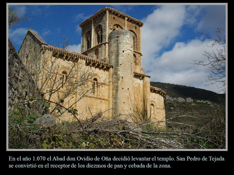 San Pedro de Tejada. Pequeña iglesia románica. Situado en el pueblo de Puente Arenas, en pleno valle de Valdivieso, perteneciente a las merindades bur