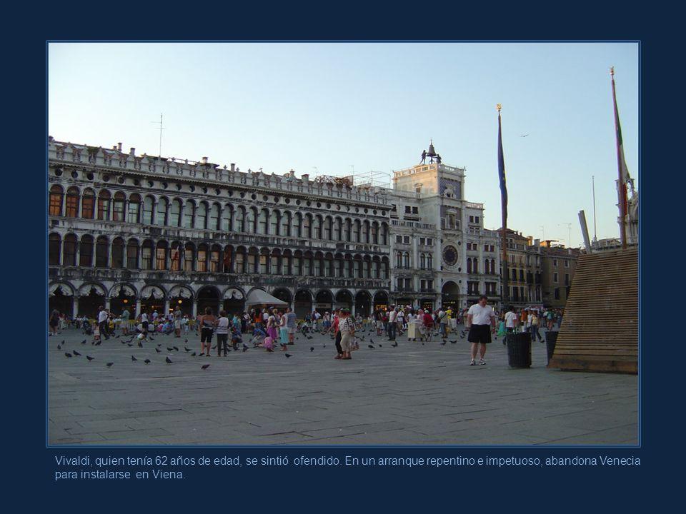 Marcelo Aurelio Debido a intrigas y malos entendidos, pues Vivaldi despertaba envidias, se le impidió hacer una gira a Ferrara con su grupo de orquest